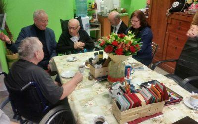 Wizyta delegacji z olsztyńskiego ratusza z okazji 80 rocznicy naszego poety Stefana Połoma